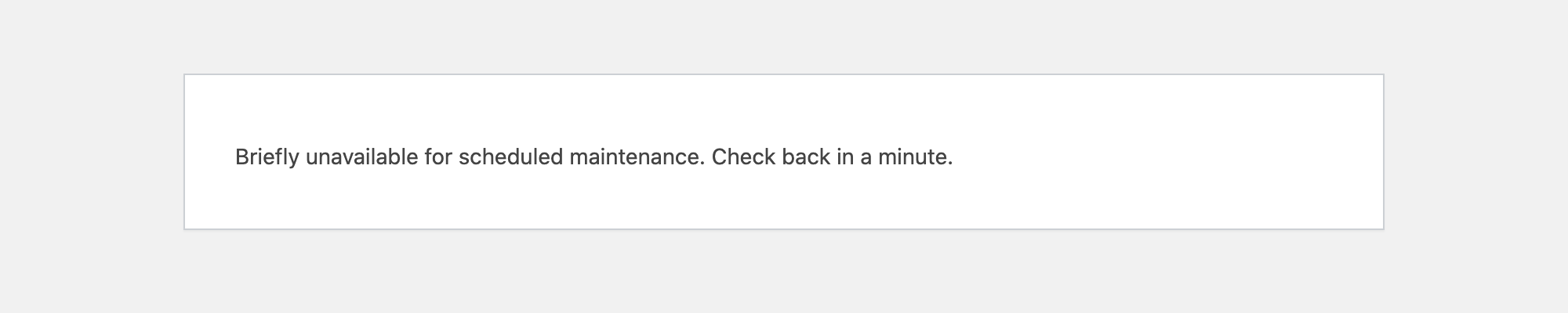 Briefly unavailable for scheduled maintenance. Check back in a minute.